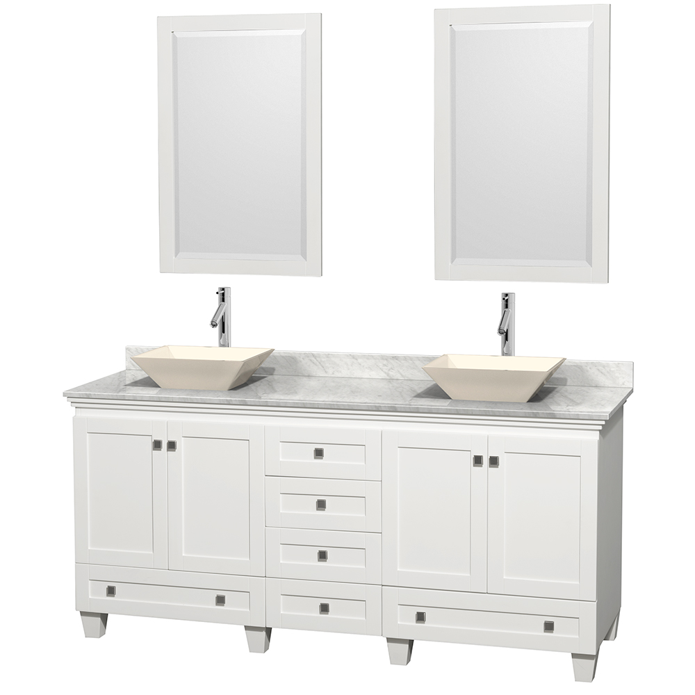 Acclaim 72 Double Bathroom Vanity For Vessel Sinks White Free
