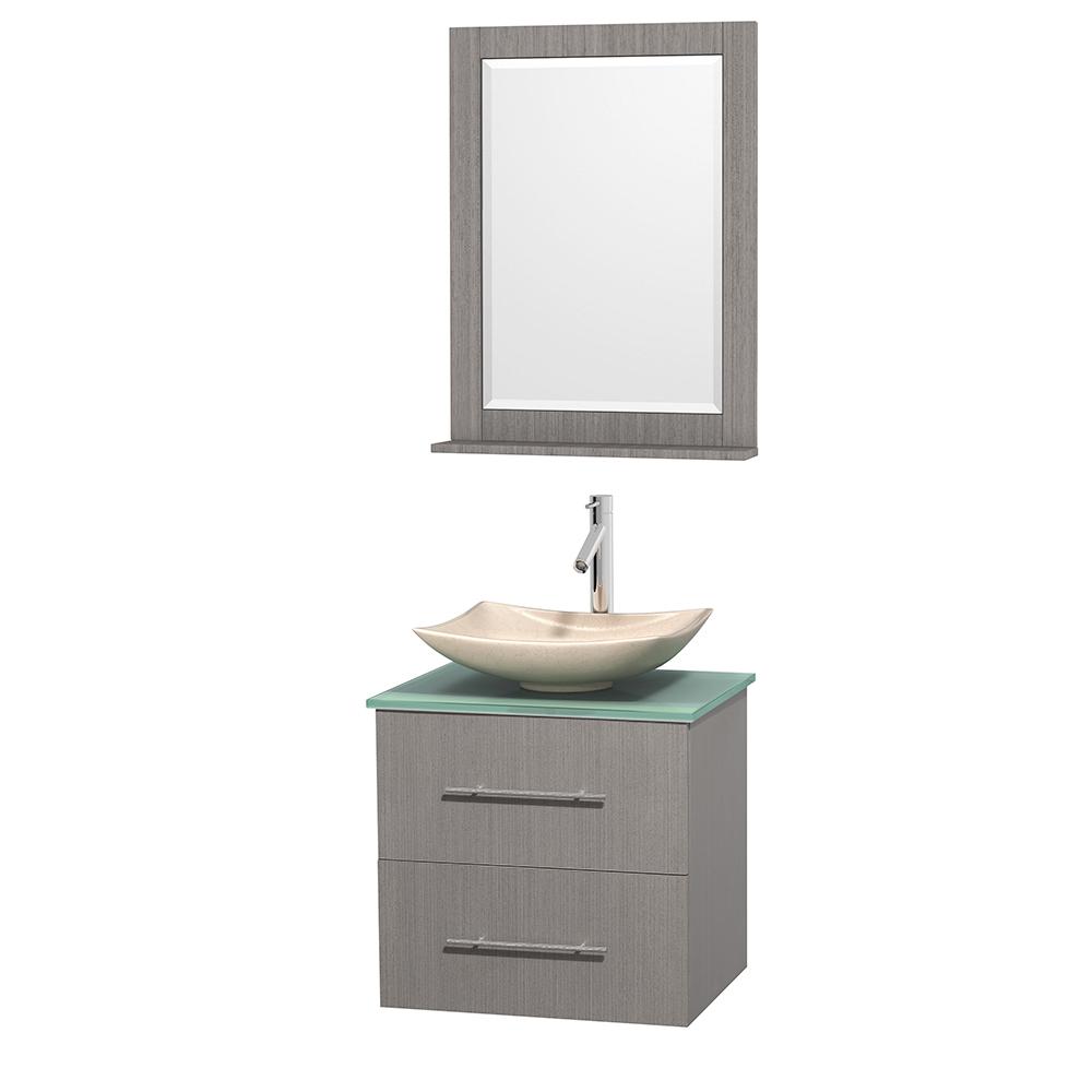 Centra 24 Single Bathroom Vanity For Vessel Sink Gray Oak