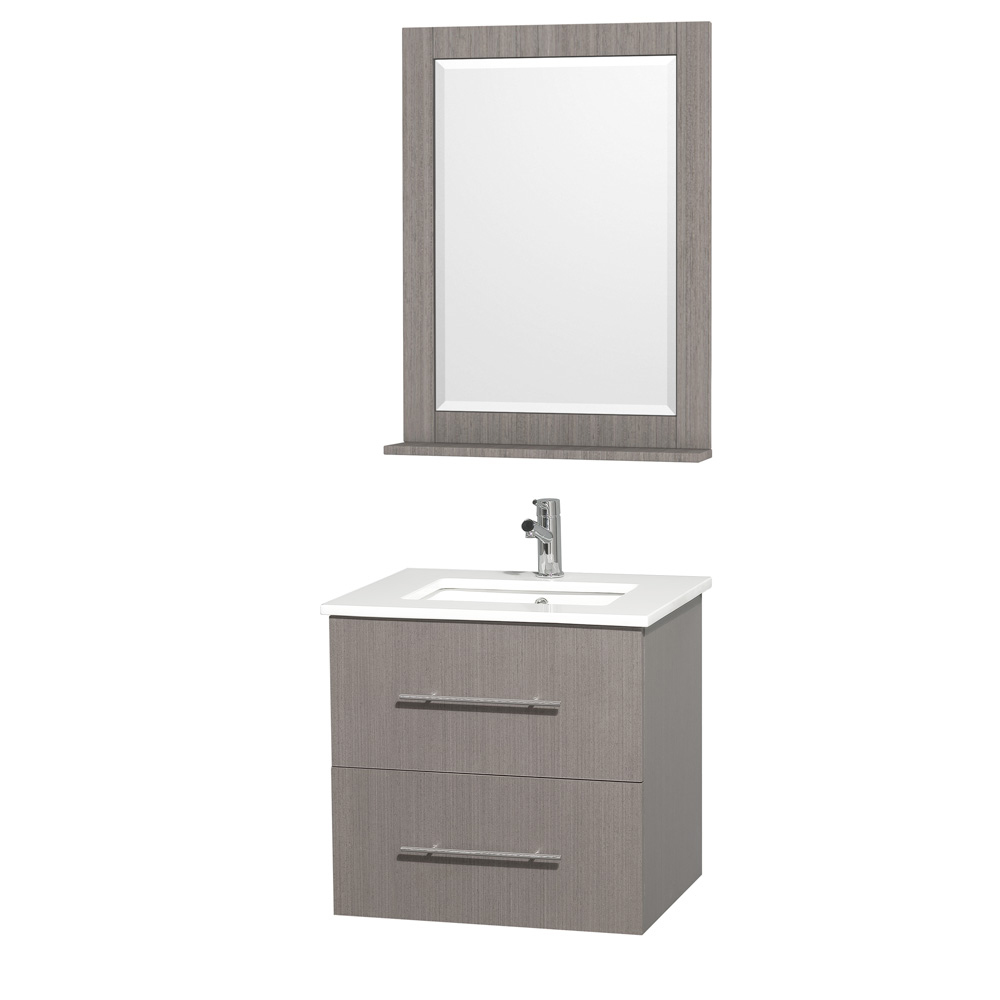 Centra 24 Single Bathroom Vanity For Undermount Sinks Gray Oak Beautiful Furniture Every Home Wyndham Collection