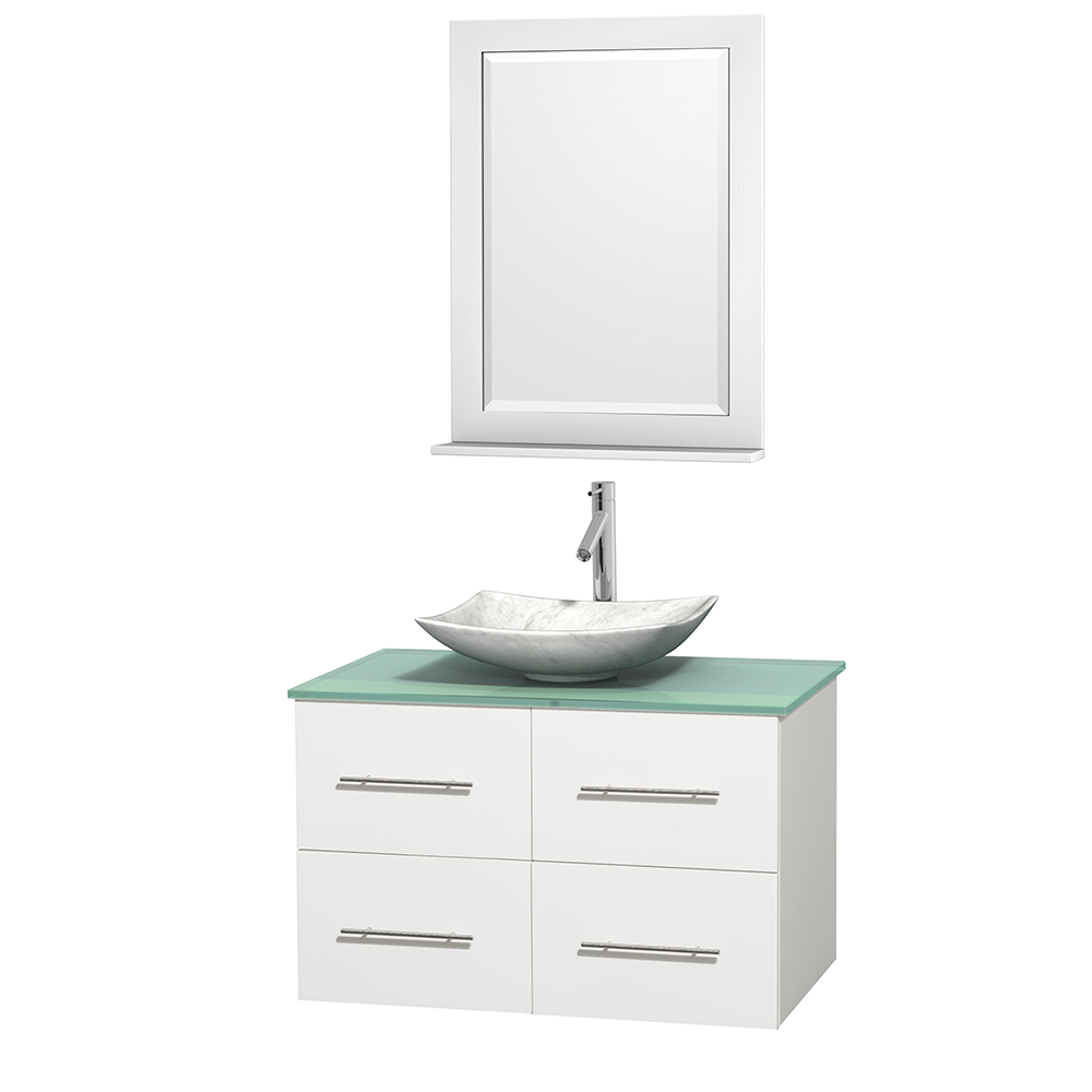 Centra 36 Single Bathroom Vanity For Vessel Sink Matte White Beautiful Bathroom Furniture For Every Home Wyndham Collection