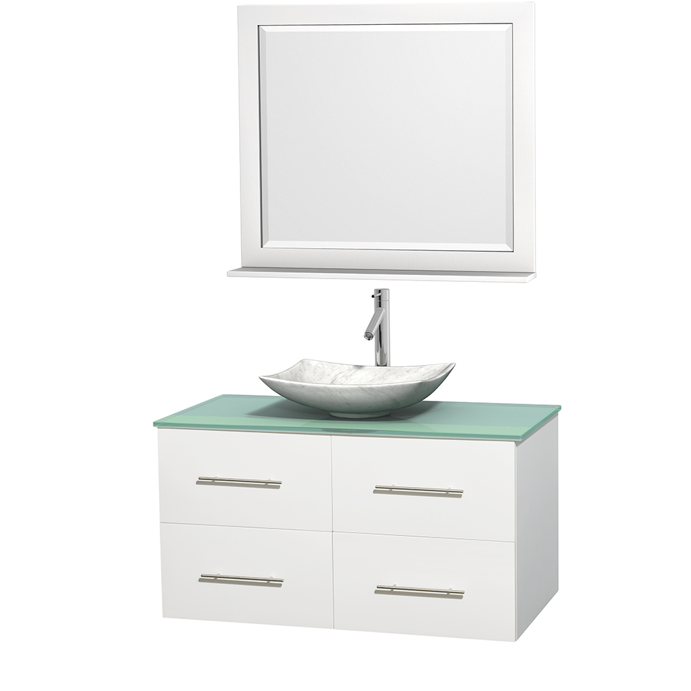Centra 42 Single Bathroom Vanity For Vessel Sink Matte White Beautiful Bathroom Furniture For Every Home Wyndham Collection