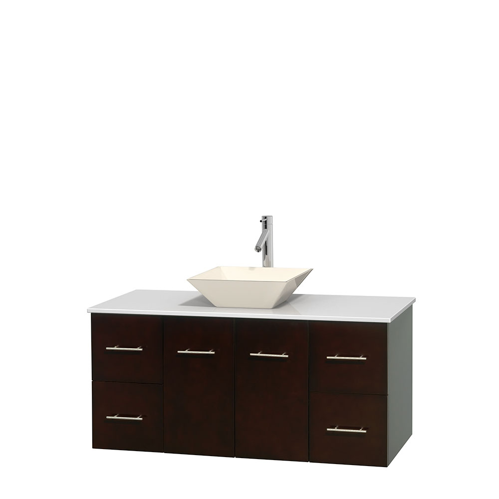 Centra 48 Single Bathroom Vanity For Vessel Sink Espresso Beautiful Bathroom Furniture For Every Home Wyndham Collection