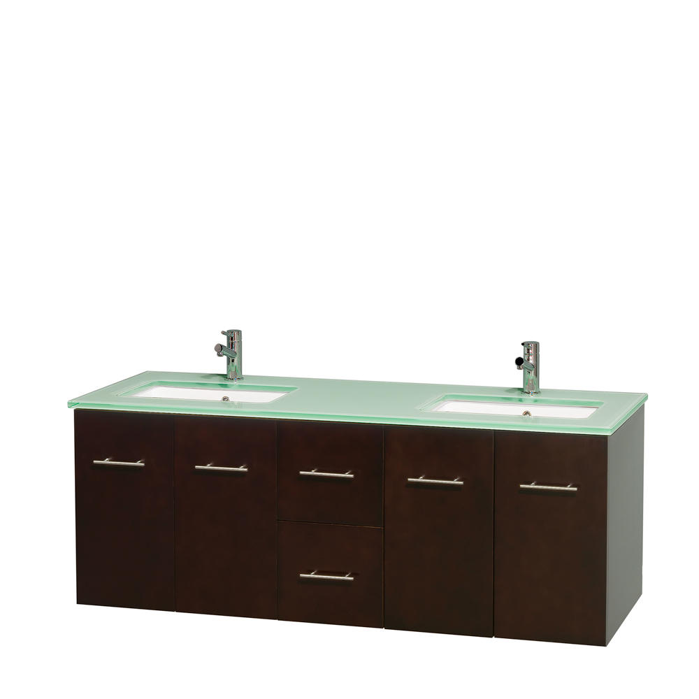 Centra 60 Double Bathroom Vanity For Undermount Sinks Espresso Beautiful Furniture Every Home Wyndham Collection
