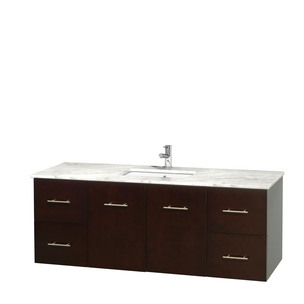 Centra 60 Single Bathroom Vanity For Undermount Sinks Espresso