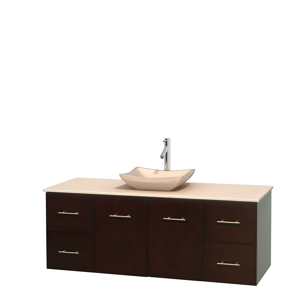 Centra 60 Single Bathroom Vanity For Vessel Sink Espresso Beautiful Bathroom Furniture For Every Home Wyndham Collection