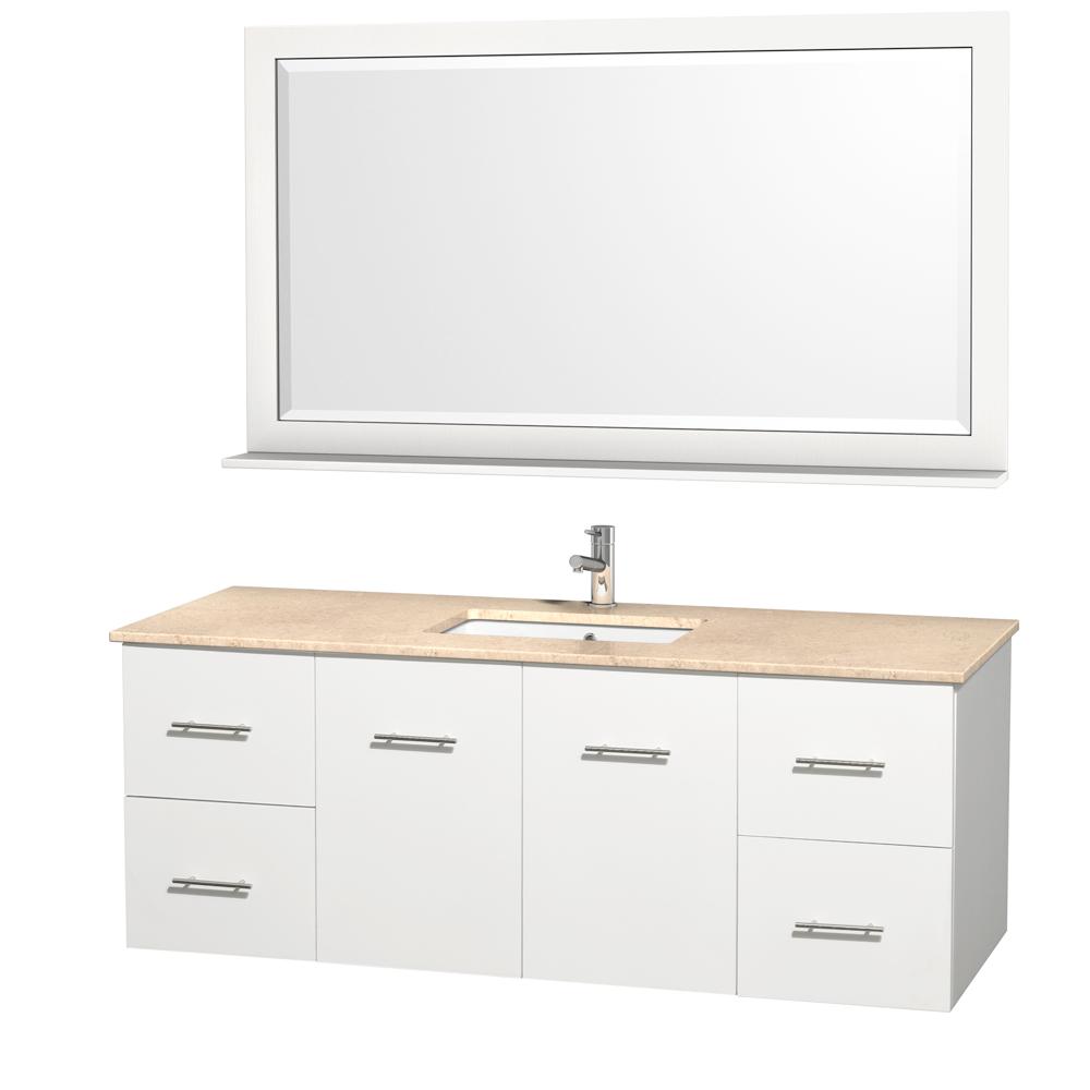Centra 60 Single Bathroom Vanity For