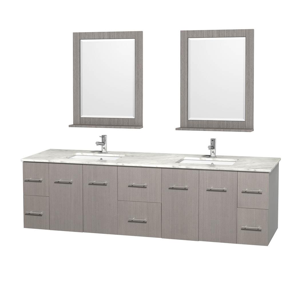 Centra 80 Double Bathroom Vanity For