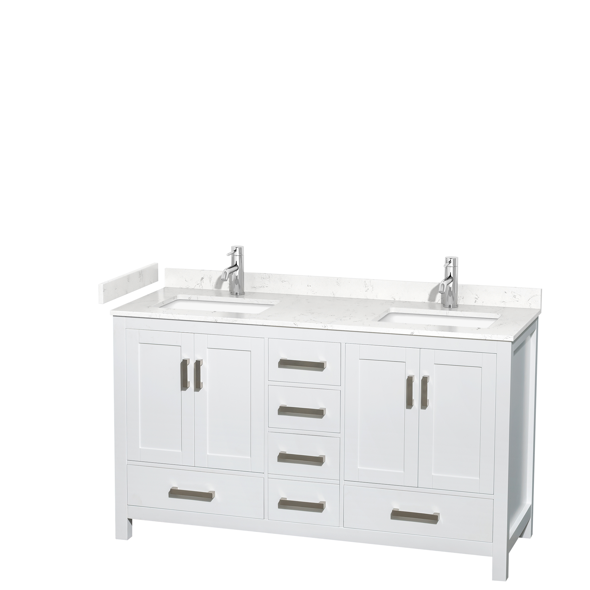 Sheffield 60 Double Bathroom Vanity White Beautiful Bathroom Furniture For Every Home Wyndham Collection