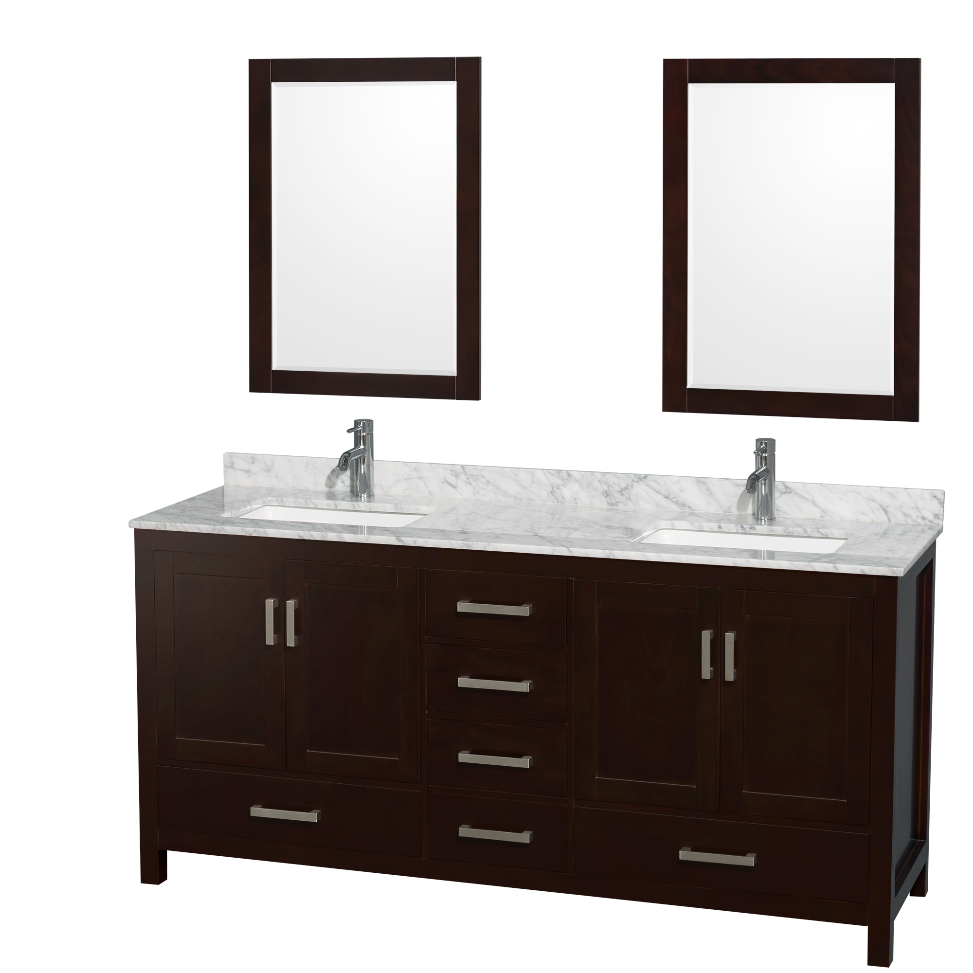 Sheffield 72 Double Bathroom Vanity Espresso Beautiful Bathroom Furniture For Every Home Wyndham Collection