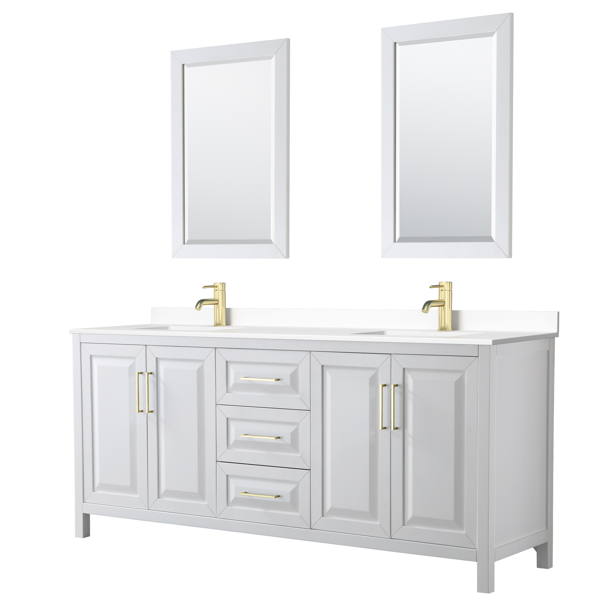 Daria 80 Double Bathroom Vanity White Beautiful Bathroom Furniture For Every Home Wyndham Collection