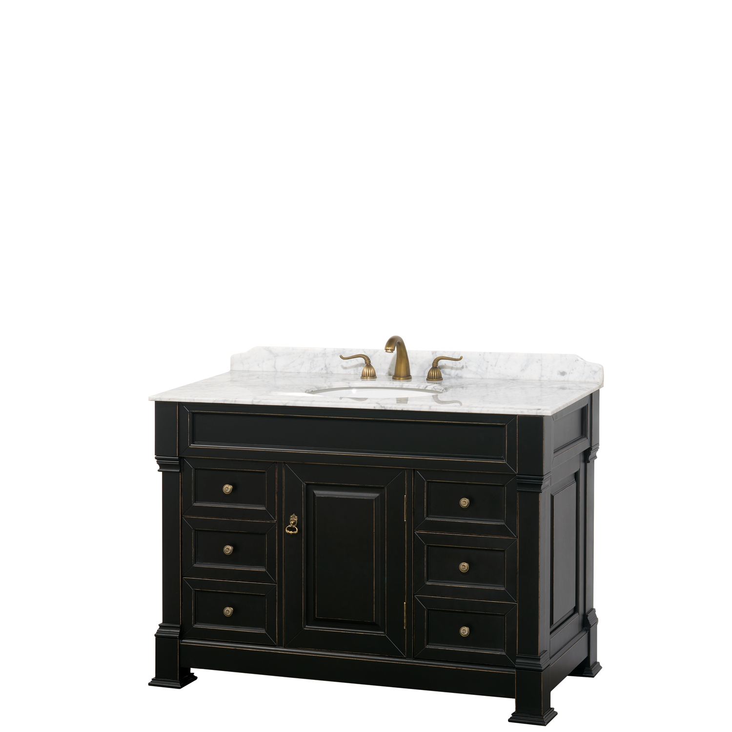 Andover 48 Traditional Bathroom Single Vanity Set Black Beautiful Bathroom Furniture For Every Home Wyndham Collection
